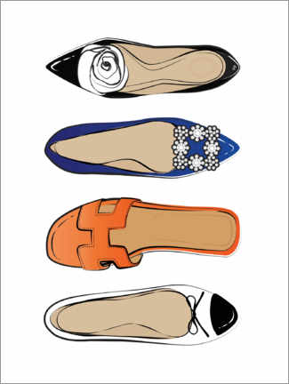 Premiumposter  Luxury shoes - Martina illustration