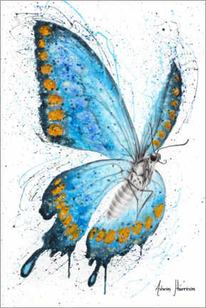 Premiumposter The morning butterfly
