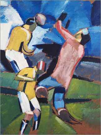 Canvastavla  Football, soccer players - Harald Giersing