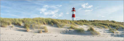 Premiumposter  Lighthouse on the dune beach on Sylt - Jan Christopher Becke