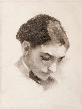 Premiumposter Portrait of a woman