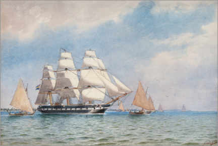 Aluminiumtavla  Vanadis sail to Jaluit Island in the South Pacific - Jacob Hägg