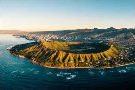 Canvastavla  Diamond Head crater in Honolulu, Hawaii - Road To Aloha