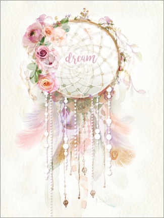 Premiumposter Rosé dream catcher