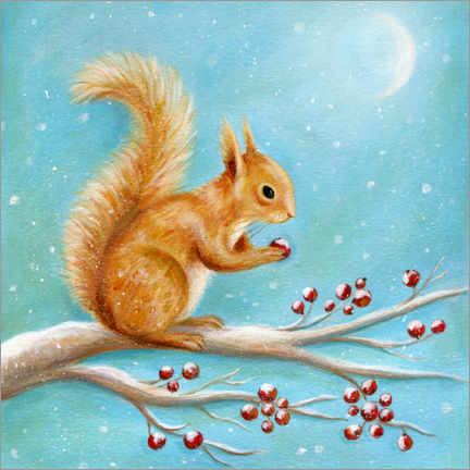 Premiumposter  Squirrel with winter fruits - Ileana Oakely