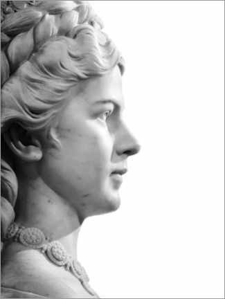 Canvastavla  Marble bust - Art Couture