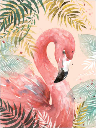 Canvastavla  Flamingo in the jungle - Di Brookes