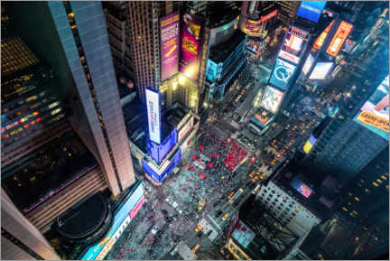 Premiumposter  Aerial view of Times Square in New York - Mike Centioli