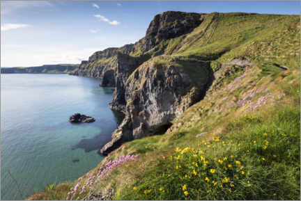 Trätavla  Calm bay in Ireland by the sea - The Wandering Soul