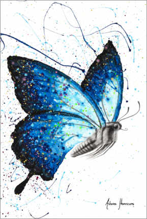 Premiumposter Blue Freedom Butterfly