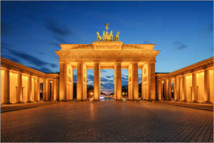 Premiumposter  Brandenburg Gate at the blue hour - Robin Oelschlegel