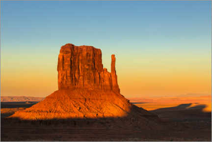 Premiumposter Monument Valley at sunset