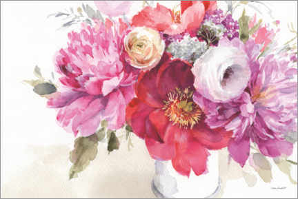 Premiumposter Still life with peonies