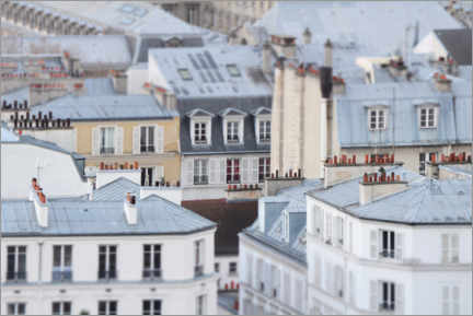 Premiumposter Over the roofs of Paris