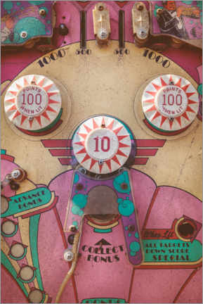 Premiumposter  The pink pinball machine - Martin Bergsma