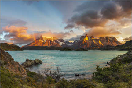 Premiumposter  Summits of Torres del Paine, Patagonia, Chile - Dieter Meyrl