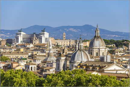 Premiumposter View over Rome - from Castel Sant'Angelo
