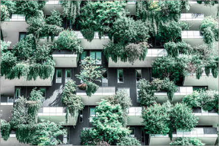 Akrylglastavla  Bosco Verticale or Vertical Forest Towers In Milan - Radu Bercan