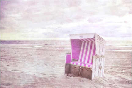 Premiumposter Pink beach chair