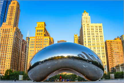 Canvastavla  Cloud Gate, Chicago - HADYPHOTO