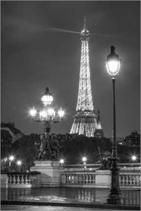 Premiumposter  Pont Alexandre III and Eiffel Tower in Paris - Jan Christopher Becke