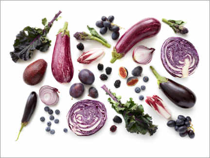 Premiumposter Fresh fruits and vegetables