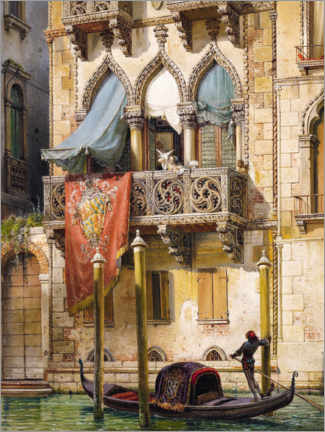 Canvastavla  Palazzo Contarini in Venice (House of the Desdemona) - Friedrich Nerly