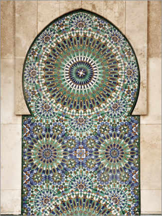 Aluminiumtavla  Decorative, Moroccan mosaic - Art Couture