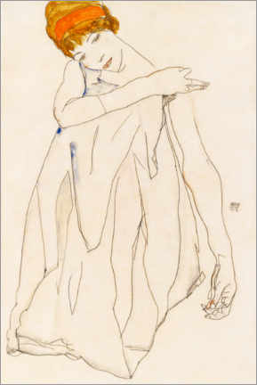 Canvastavla  The dancer - Egon Schiele
