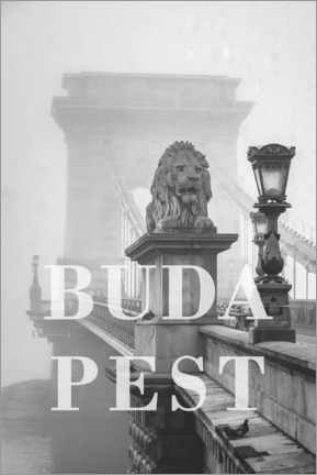 Premiumposter  Cities in the rain: Budapest - Christian Müringer