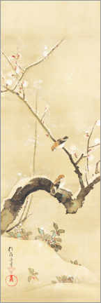 Premiumposter  Birds and flowers of the twelve months - Sakai H?itsu