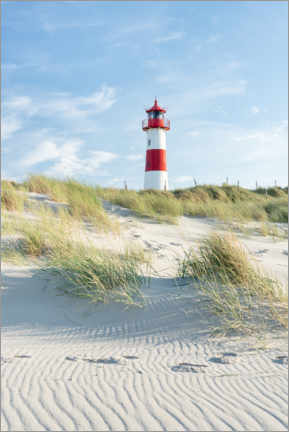 Canvastavla  List Ost lighthouse on Sylt - Jan Christopher Becke