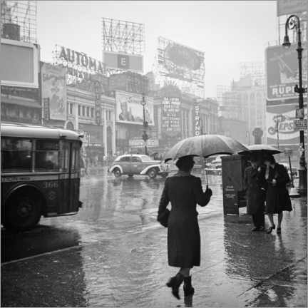 Premiumposter  Times Square on a rainy day in 1944 - Christian Müringer