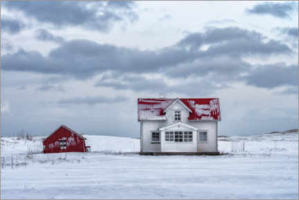 Premiumposter  The house in the snow - André Wandrei