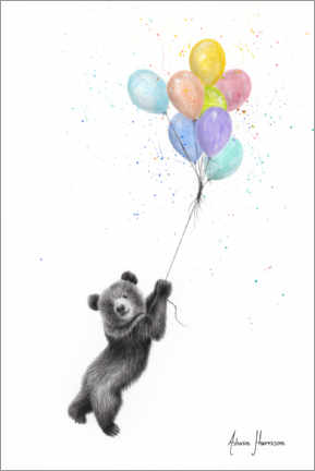 Canvastavla  Little bear with balloons - Ashvin Harrison