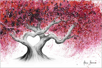 Akrylglastavla  Tree of love - Ashvin Harrison