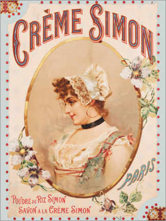 Självhäftande poster  Creme Simon (French) - Advertising Collection