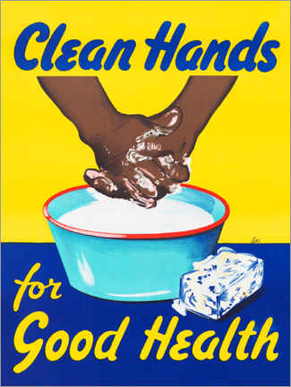 Självhäftande poster  Clean hands for good health - Advertising Collection