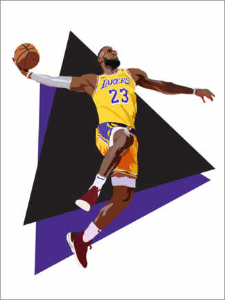 Canvastavla  Lebron James - Anna McKay