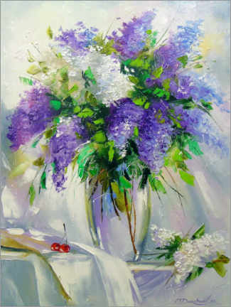 Premiumposter Bouquet of lilac in a vase