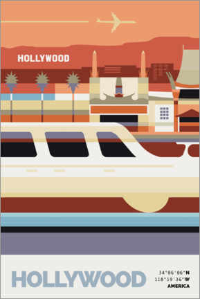 Premiumposter  Hollywood - Nigel Sandor