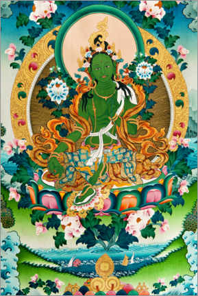 Premiumposter  Shyama Tara or Green Tara