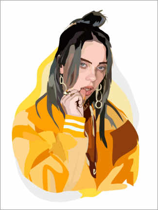Canvastavla  Billie Eilish - Anna McKay