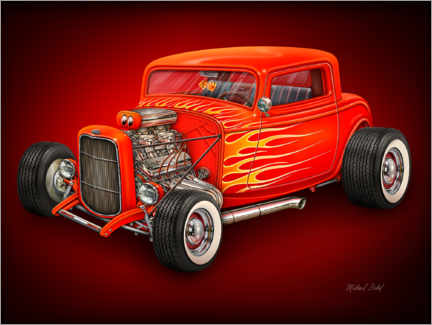 Premiumposter Red Hot Rod