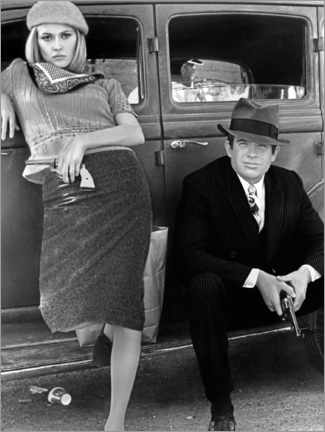 Premiumposter Bonnie and Clyde, black and white