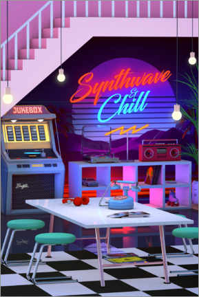 Premiumposter Synthwave And Chill