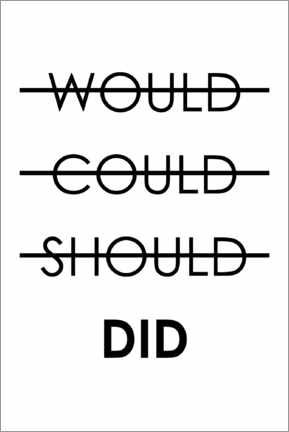 Premiumposter  Would, could, should, do (English) - Typobox