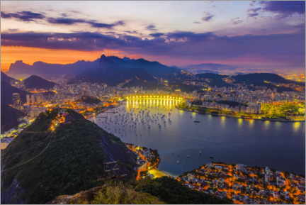 Canvastavla  View of Rio de Janeiro from Sugar Loaf Mountain - HADYPHOTO