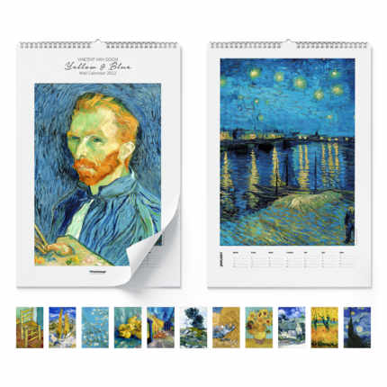 Väggkalender  Yellow & blue 2021 - Vincent van Gogh