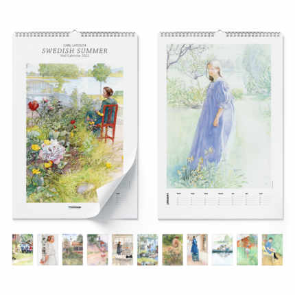 Väggkalender  Swedish summer 2021 - Carl Larsson